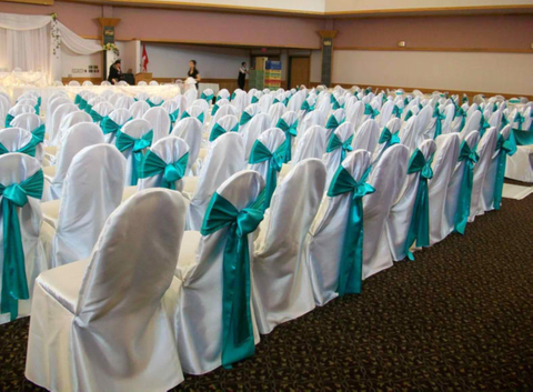 Satin Banquet Chair Covers and Sashes
