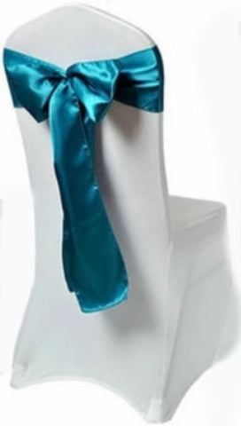 aqua blue satin sash