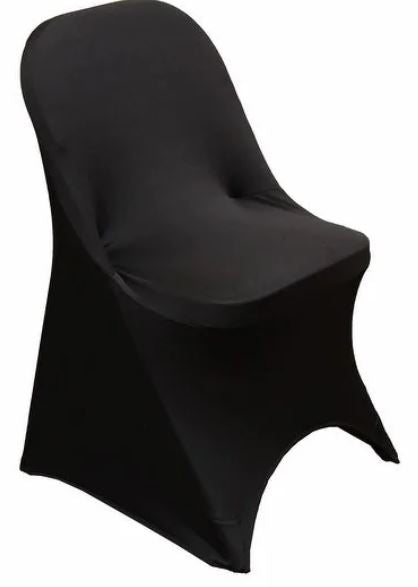 Buy Black Spandex Folding Chair Cover - Rent