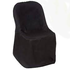 black folding chair cover