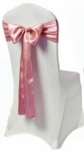 blush satin sash