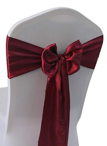 Burgundy Satin Sash