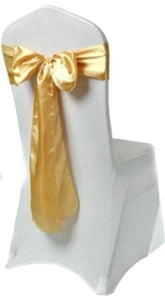 gold satin sash