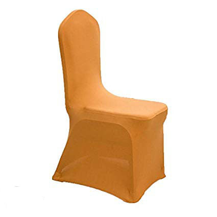 gold spandex chair cover