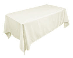90x156 ivory polyester