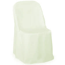 Ivory Folding polyester Chair Cover - Buy