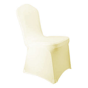 Ivory Spandex Banquet Chair Cover - Rent