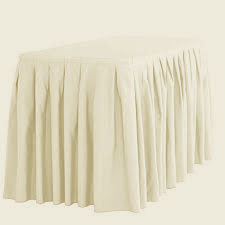 ivory table skirt