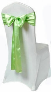 mint satin sash