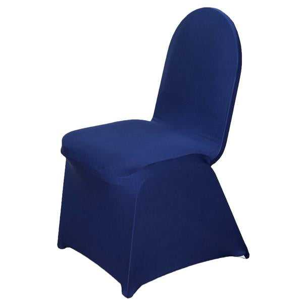 Navy Blue Spandex Chair Cover - Rent