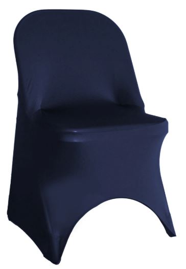 Navy Spandex Folding Chair Cover - Rent