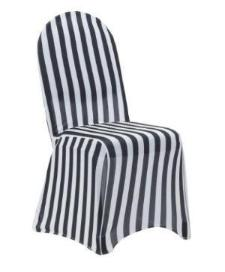 black and white stripe spandex chair cover