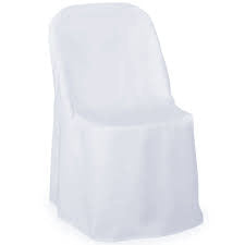 white folding chair cover