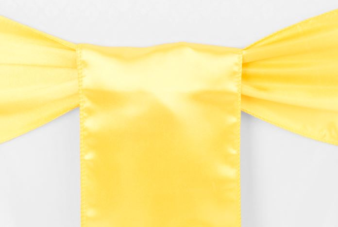 Canary Yellow Satin Sash
