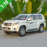 1/18 Toyota Land Cruiser Prado Diecast SUV Car Model Toys For Boy Gifts Collection hobby White With New Original Box