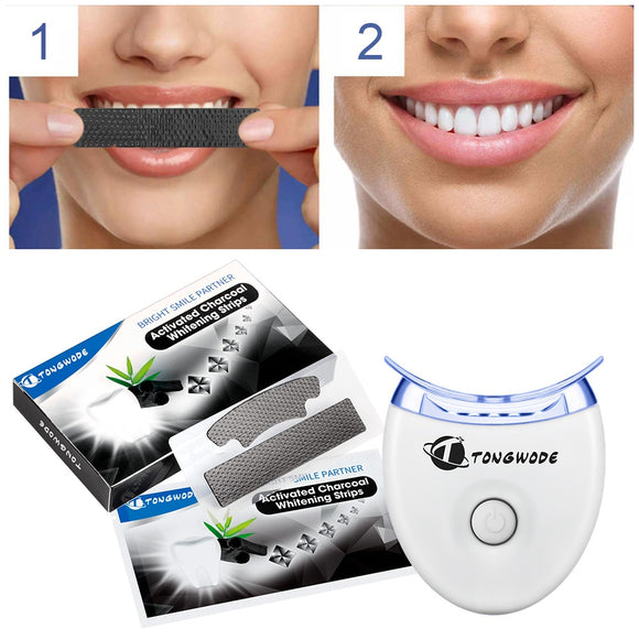 1 Activated Charcoal Teeth Whitening Strip 1 Dental Bleaching Accelerator 14 Pairs/Lot Remove Tooth Tartar Stain for White Teeth - efair Best spare parts online shopping website