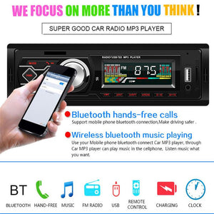 1 DIN Car Stereo Audio FM Aux Input Receiver SD USB MP3 Radio Player Bluetooth Support Hand-free Call Music Playing - efair.co