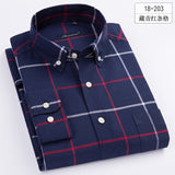 MartLion,100% Cotton Oxford Mens Shirts High Quality Striped Business Casual Soft Dress Social Shirts Regular Fit Male Shirt Big Size 8XL