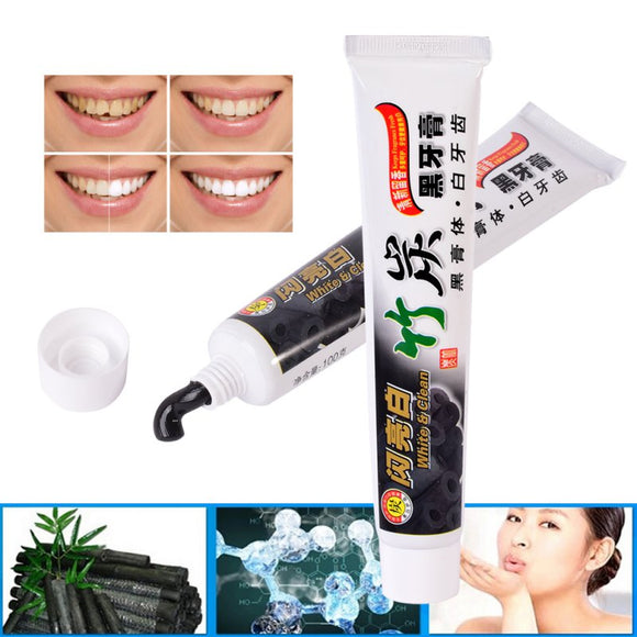 100g Bamboo Charcoal Toothpaste Tooth Whitening Health Beauty Tool Dental Oral Care Hot Selling Easy Safe Teeth Beauty hot sale - efair Best spare parts online shopping website