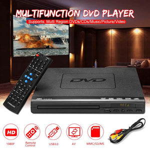 110V-240V USB Portable Multiple Playback DVD Player ADH DVD CD SVCD VCD Disc Player Home Theatre System With Romote Control - efair Best spare parts online shopping website