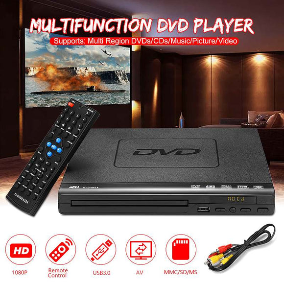 110V-240V USB Portable Multiple Playback DVD Player ADH DVD CD SVCD VCD Disc Player Home Theatre System With Romote Control - efair.co