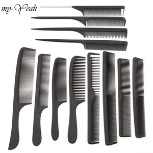 12 Style Anti-static Hairdressing Combs Detangle Straight Hair Brushes Girls Ponytail Comb Pro Salon Hair Care Styling Tool - efair.co