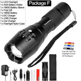 12000 LM Led flashlight Ultra Bright linterna led torch T6/L2/V6 Zoomable Bicycle Light use AAA 18650 battery Waterproof - efair.co