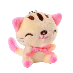 1PCS 3 colors KAWAII 9CM Cats Stuffed TOYS Keychain Cat Gift Plush TOY DOLL For Kid's Party Birthday Plush Toys For Girl - efair Best spare parts online shopping website