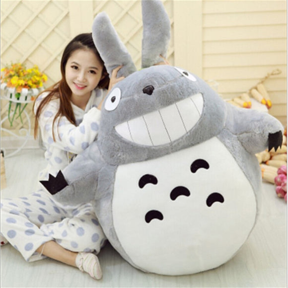 1pcs 55CM Famous Cartoon Totoro Plush Toys Smiling Soft Stuffed Toys High Quality Dolls Factory Price home decoration gift - efair Best spare parts online shopping website