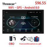 2 Din Car Radio Android 8.0  Universal GPS Navigation Bluetooth Touchscreen Wifi Car Audio Stereo FM USB Car Multimedia MP5 - efair.co