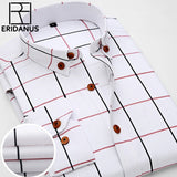 2016 New Oxford Plaid Casual Men's Shirt Slim Fit Formal&Business Occupation Man Shirts Spring Long Sleeve Men Dress Shirt M038 - efair.co