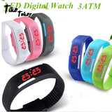 2018 Candy Color Men's Women's Watch Rubber LED kids Watches Date Bracelet Digital Sports Wristwatch for student - efair Best spare parts online shopping website