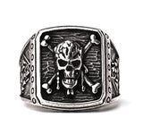 2018 New Fashion Captain Jack  Pirate Skull Capitan Ring Pirates Of The Caribbean Ring Skull Ring For Men - efair Best spare parts online shopping website