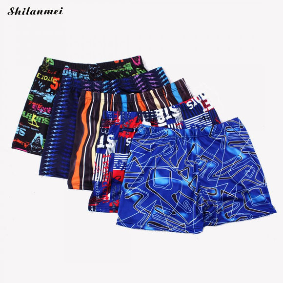2018 New Men Swimsuit Summer Boxer Short Swimming Trunk Pant Boys Surf Board Beach Wear Man Swimwear Print Trunk Swimwear - efair.co