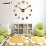 2018 muhsein new lowest 3D wall clock digital wall clock fashion living room clock large wall clock DIY decorative landscape - efair Best spare parts online shopping website