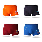 2019 Bamboo Fiber Underwear Men Brand Print Soft Mens Boxer Shorts Middle-waisted Male Panties Comfortable Breathable Underpants - efair Best spare parts online shopping website