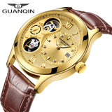 2019 GUANQIN Watch Men New Mechanical Top Brand Luxury Clock Men Automatic Waterproof Skeleton Double Movement Relogio Masculino - efair Best spare parts online shopping website