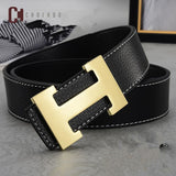 2019 Luxury Designer H Brand Designer Belts Men High Quality Male Genuine Real Leather Women Belt H Buckle Strap for Jeans - efair.co