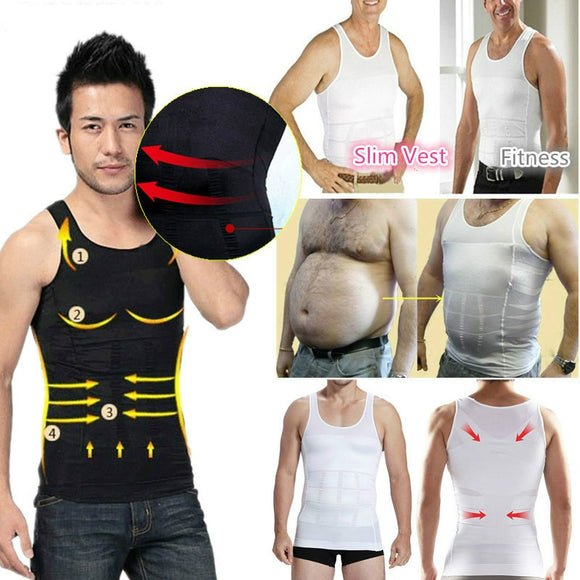 2019 Men Slimming Body Shaper Tummy Shapewear Fat Burning Vest Modeling Underwear Corset Waist Trainer Muscle Girdle Shirt - efair Best spare parts online shopping website