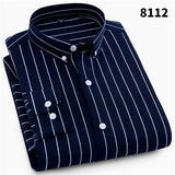 2019 NEW Men Striped Shirts Casual Long Sleeve Mens Shirt Slim Fit Business Male Social Dress Shirts - efair Best spare parts online shopping website