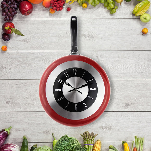 2019 New Arrivals Metal Frying Pan Design Wall Clocks Modern Style Novelty Kitchen Home Decor Gifts 8'' 10'' 12'' Clocks - efair Best spare parts online shopping website