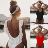 2019 New Sexy Women One Piece Swimsuit 3D Flower Strap Backless Wirless Bodysuit Swimsuit Bathing Suit Summer Beachwear - efair Best spare parts online shopping website