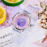 2019 New Transparent Strawberry Cartoon Lovely Girls Women Dress Wrist Watches Sport Casual Pink Quartz Ladies Watches - efair.co