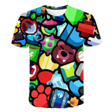 2019 Summer New Shooting Game T shirt Men/Women 3D Print Brawl Stars T-shirt Cartoon Fashion Streetwear Tops Plus size S-5XL - efair Best spare parts online shopping website