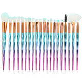 20pcs Rainbow Diamond Handle Makeup Brushes Set Power Foundation Blush Eyeshadow Blending Multifunction Brush Cosmetic tool Kits - efair.co