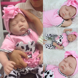 22 Inch 55cm Soft Silicone Handmade Reborn Baby Girl Dolls Realistic Looking Newborn Baby Doll Toddler Cute Birthday Gift - efair Best spare parts online shopping website