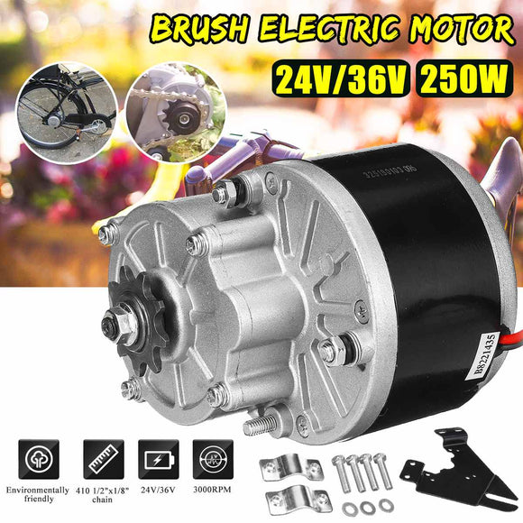 250W 24V/36V Electric Bicycle Motor For 410 1/2x1/8'' Chain Electric Bicycle/Bike E bike Scooter Conversion Kit Set Accessories - efair.co