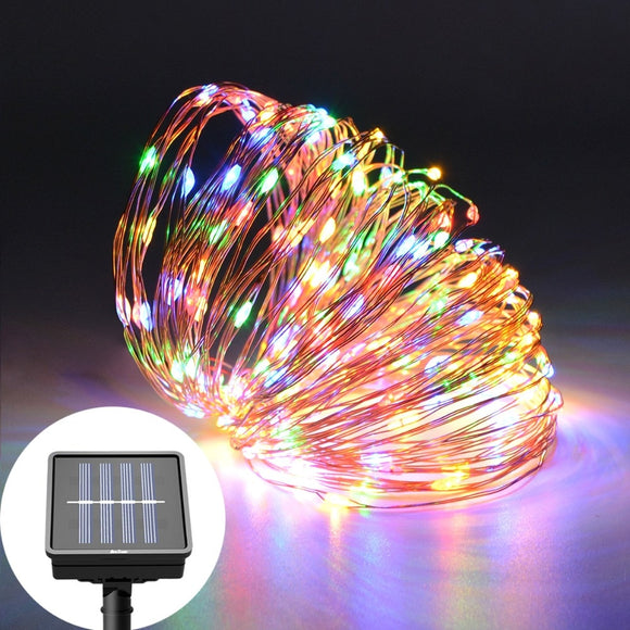 2M 5M 10M 20M Solar LED String Light Waterproof LED Copper Wire String Holiday Outdoor Lamp For Christmas Party Wedding lighting - efair.co