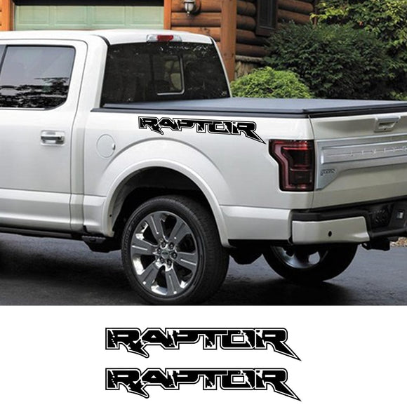 2Pcs Car Stickers For Ford Raptor F150 F250 F350 F450 F550 F650 F750 Pickup Auto Vinyl Film Sport Decals Car Tuning Accessories