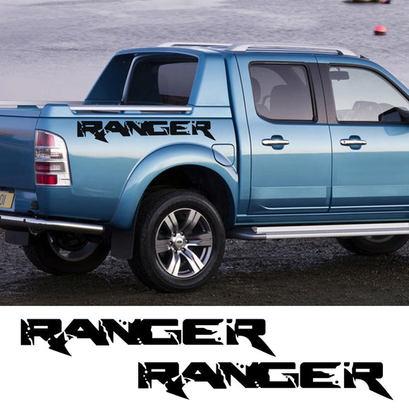 2Pcs For Ford Ranger Car Side Stickers Trunk Decoration Vinyl Film Auto Sports Styling Decals Automobile Car Tuning Accessories